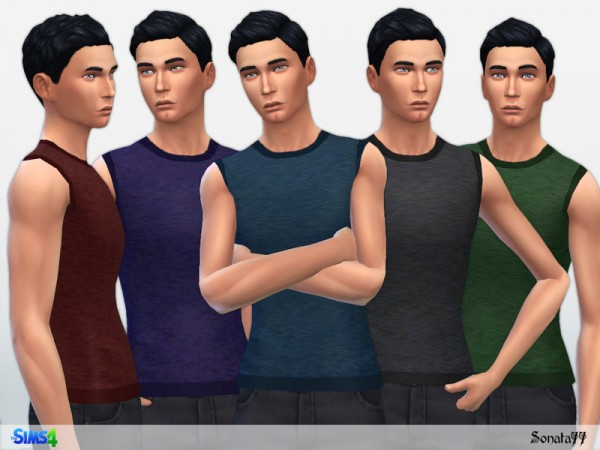 The Sims Resource: Tank top for male 14 by Sonata77