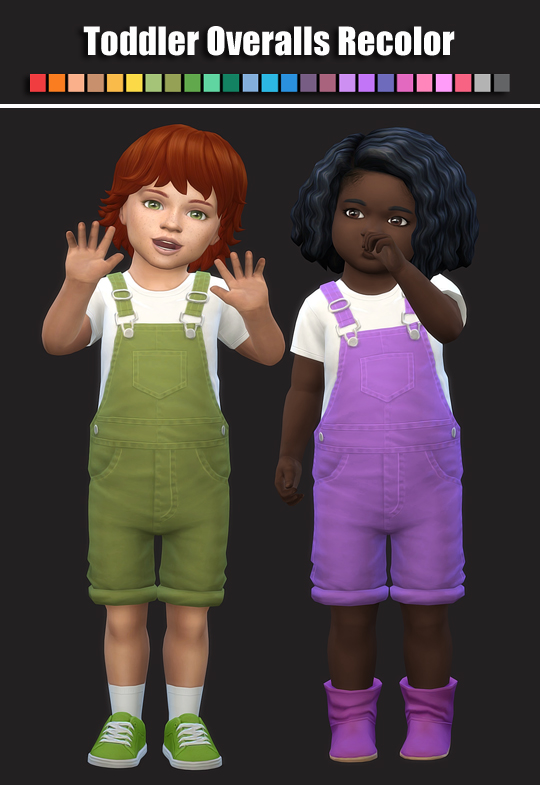Simsworkshop: Toddler Overalls Recolored by maimouth