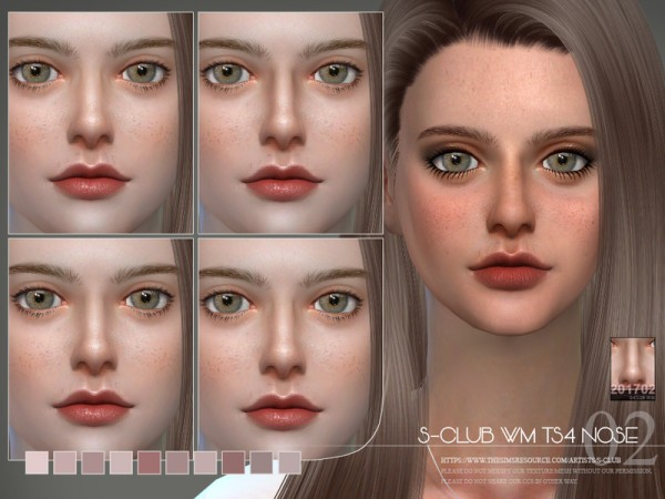 The Sims Resource: Skin Detail Nose 201702 by S Club