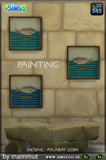 Blackys Sims 4 Zoo: Greec Mosaic Fish by mammut