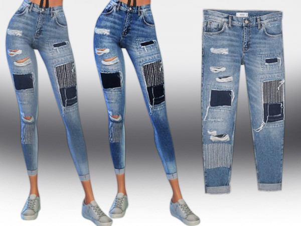The Sims Resource: Mng Strass Jeans by Saliwa