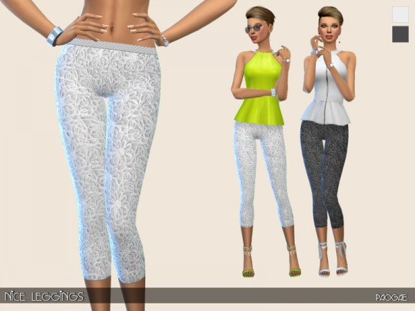 The Sims Resource: Nice Leggings by Paogae