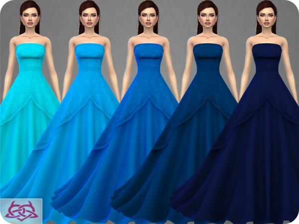 The Sims Resource: Wedding Dress 9 recolor 1 by Colores Urbanos