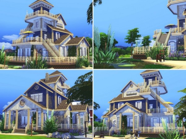 The Sims Resource: Old Beach Cottage by MychQQQ