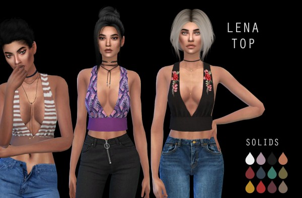 Leo 4 Sims: Lena top recolored