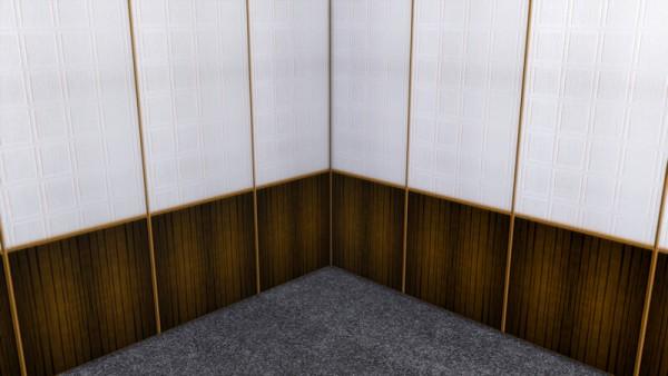 La Luna Rossa Sims: Wood and Wallpaper