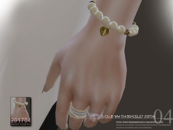 The Sims Resource: Bracelet F201704 by S Club
