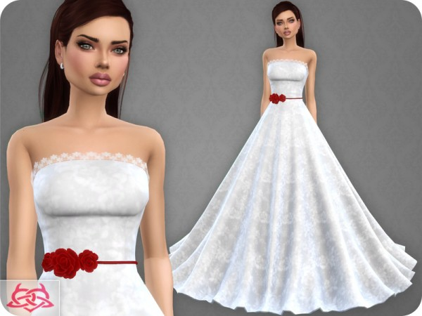 The Sims Resource: Wedding Dress 9 recolor 3 by Colores Urbanos