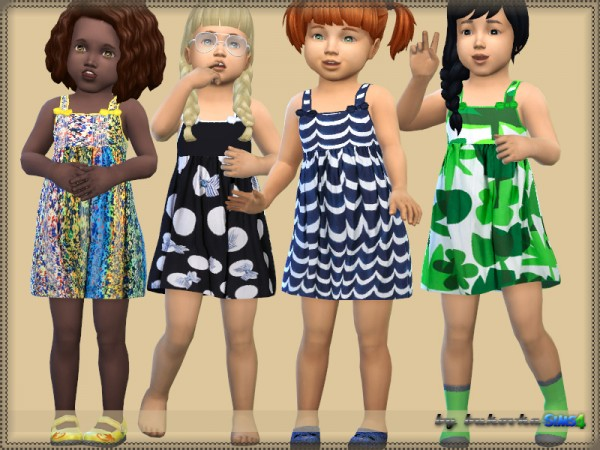 The Sims Resource: Dress and Bows by bukovka