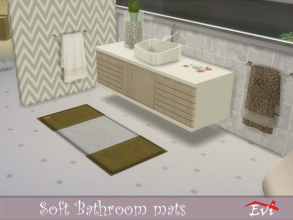 The Sims Resource: Soft bathroom mats by evi