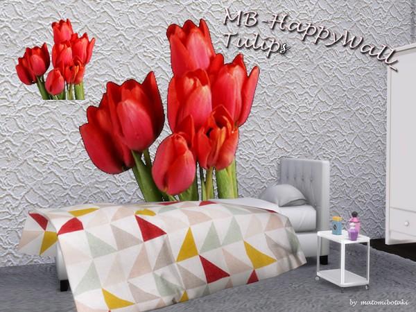 The Sims Resource: Happy Wall Tulips by matomibotaki