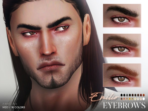 The Sims Resource: Emilio Eyebrows N120 by Pralinesims