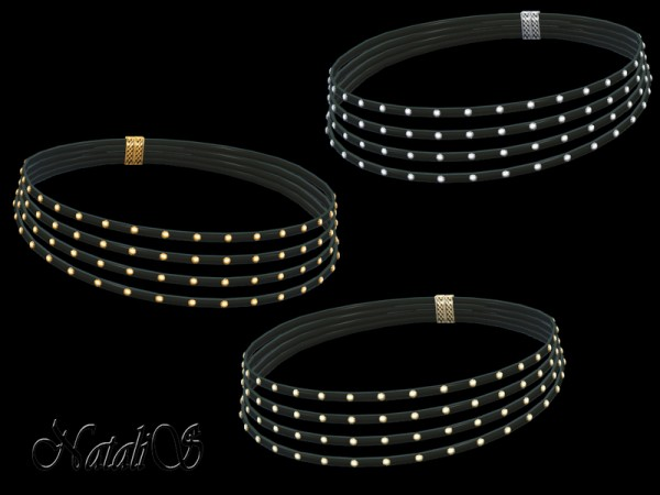 The Sims Resource: Multilayered Rivet Choker by NataliS