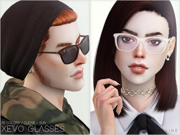 The Sims Resource: XEVO Glasses by Pralinesims