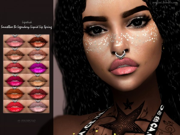 The Sims Resource: Smashbox Be Legendary Liquid Lip Spring by ANGISSI
