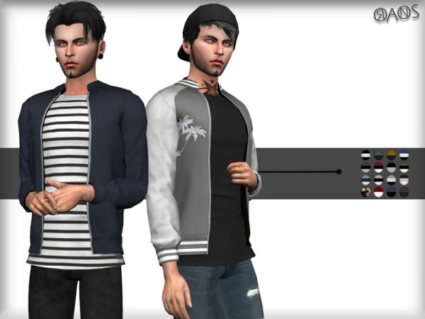 The Sims Resource: Bomber Jacket by OranosTR