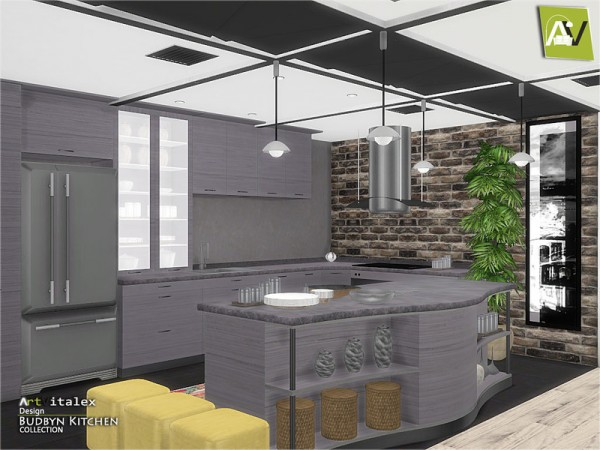 Furniture archives sims 4 downloads for Sims 3 kitchen designs