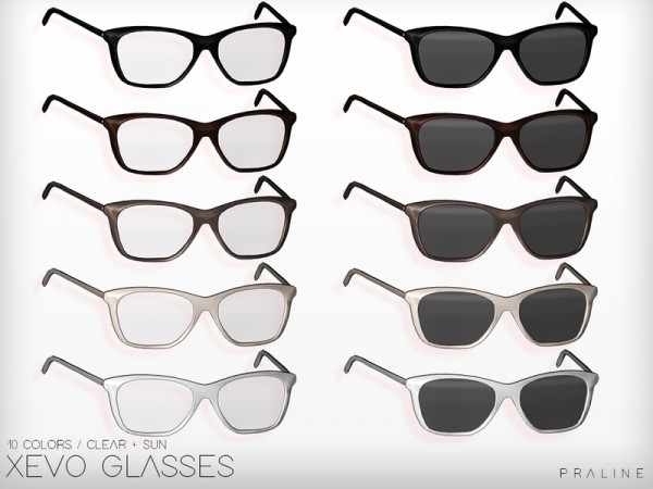 The Sims Resource Xevo Glasses By Pralinesims Sims 4