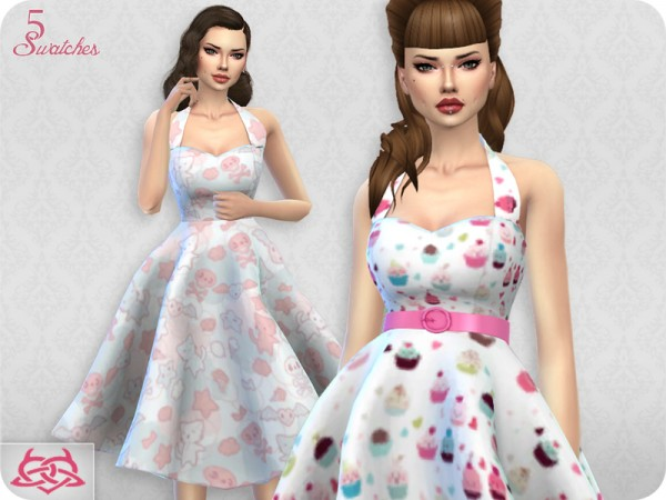The Sims Resource: Sarah dress recolored 3 by Colores Urbanos