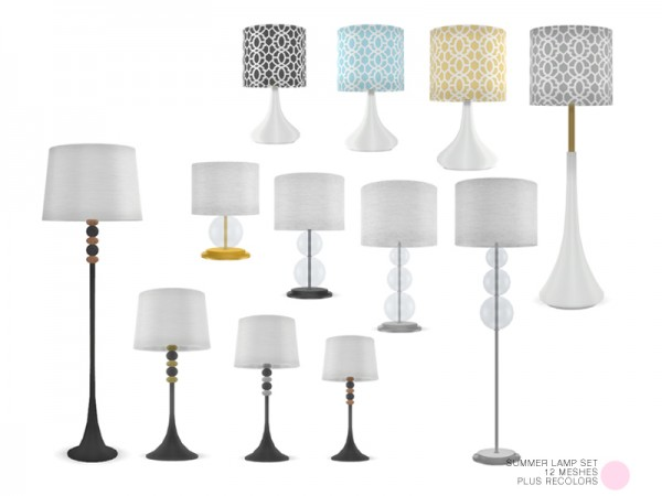 The Sims Resource: Summer Lamp Set by DOT