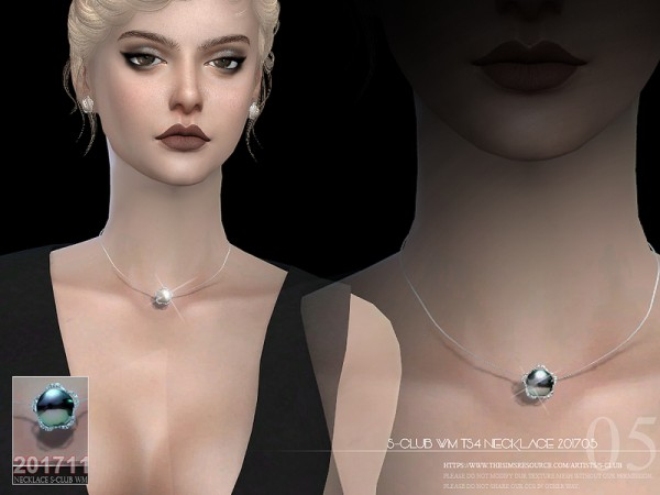 The Sims Resource: Necklace F 201705 by S Club