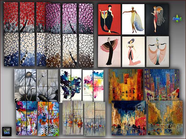 Arte Della Vita 4 Painting Sets Sims 4 Downloads