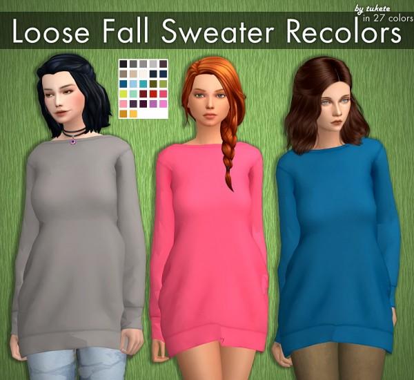 Tukete: Loose Fall Sweater Recolors