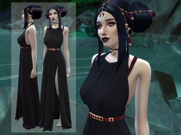 The Sims Resource: Vampire Luna Dress by Dailiaa