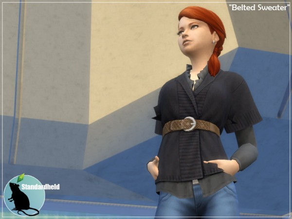 Simsworkshop: Belted sweater by Standardheld