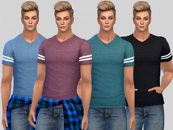 The Sims Resource: Dylan T shirt by Pinkzombiecupcakes