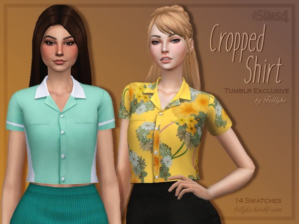 Trillyke Cropped Shirt Sims 4 Downloads