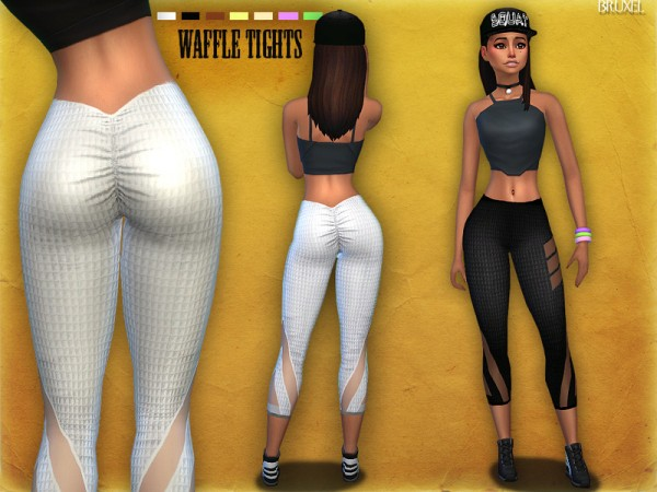 The Sims Resource: Waffle Tights by Bruxel