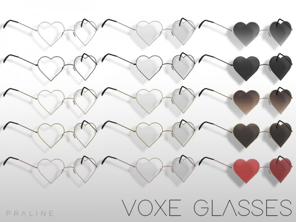 The Sims Resource: VOXE Glasses by Pralinesims