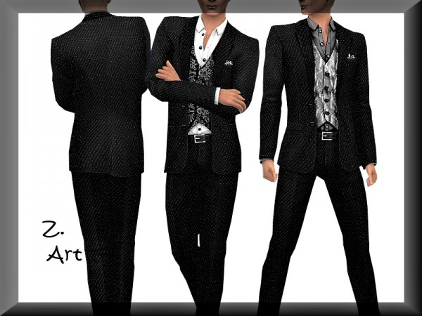 The Sims Resource: Classic suit with vest 03 by Zuckerschnute20