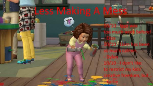 Mod The Sims: Less Make A Mess by jackboog21