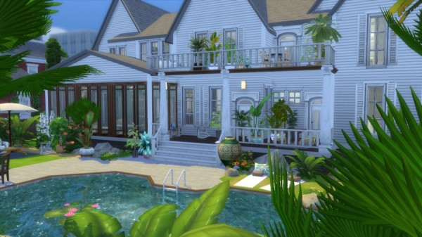 Sims Artists: Colonial house