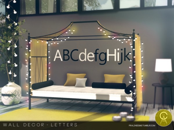 The Sims Resource Wall Decor Letters By Pralinesims