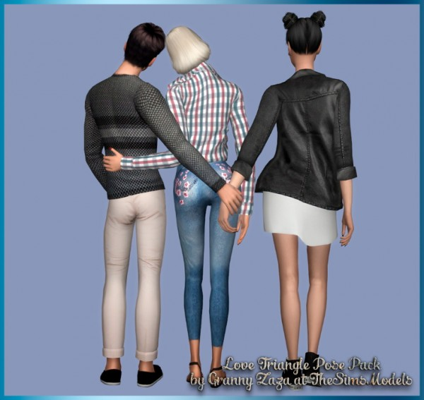 The Sims Models: Triangle Pose Pack Part 2 by Granny Zaza