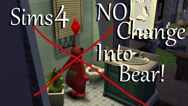 Mod The Sims: NO! Change into Bear Costume by PolarBearSims