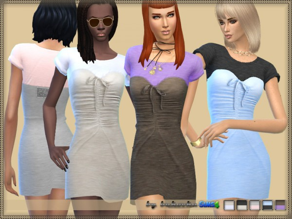 The Sims Resource: Dress Knitted Corset by Bukovka