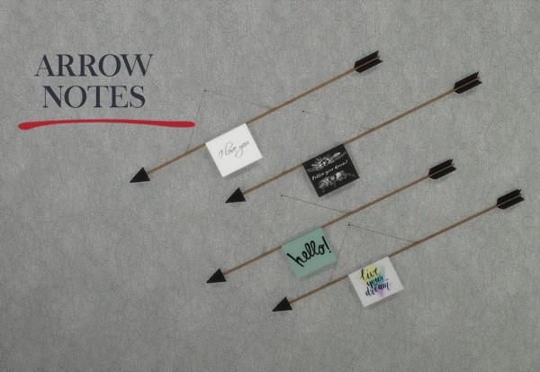 Leo 4 Sims: Arrow Note Wall Decor