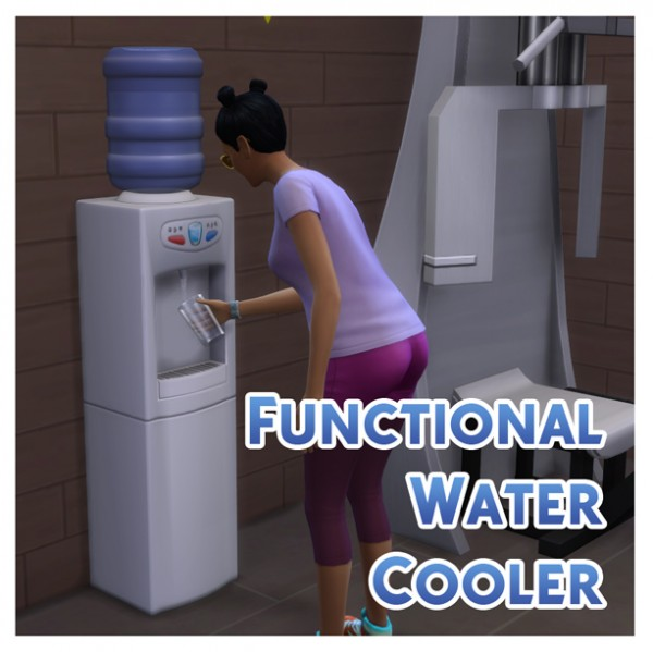Mod The Sims: Functional Aqua Pura Water Cooler by Menaceman44