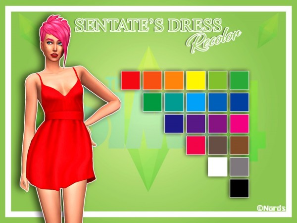 The Sims Resource: Shove Dress Recolored by Nords