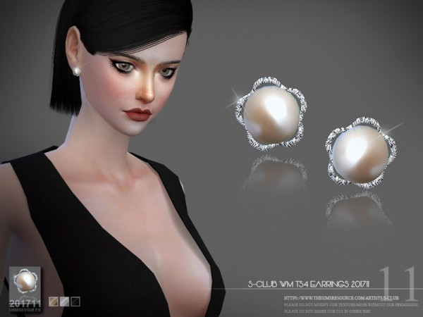 The Sims Resource: Earrings F 201711 by S Club
