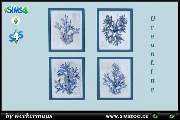 Blackys Sims 4 Zoo: Mermaid Ocean Line paintings by weckermaus