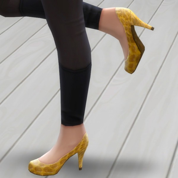 Mod The Sims: Leather Pumps! by Nuttchi