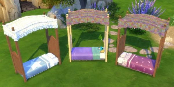 Simsworkshop: Canopy Toddler Bed by BigUglyHag