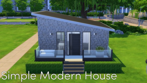Mod The Sims Simple Modern House No CC by Malwa1216 Sims 4
