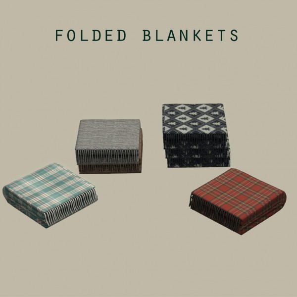 Leo 4 Sims: Folded blankets