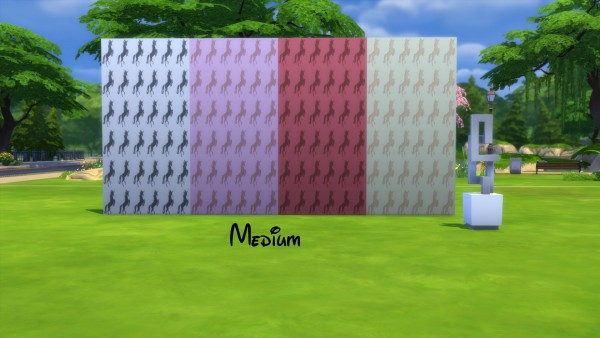 Mod The Sims: Unicorn Walls by Nuttchi